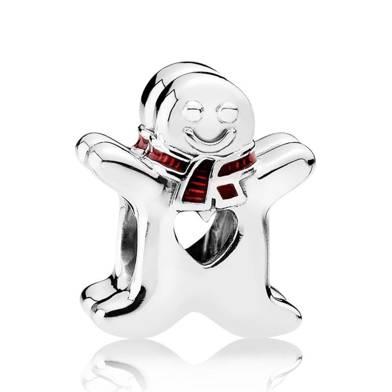 Шарм «Сладкий Пряничный человечек» из серебра