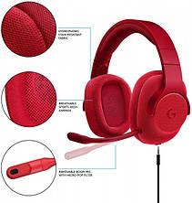 Навушники Ігрова гарнітура Logitech G433 7.1 Red, фото 3