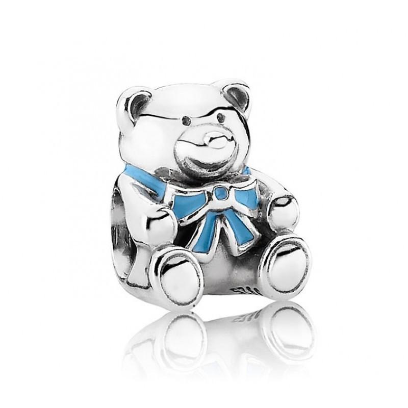 Шарм «Медвежонок мальчик» из серебра