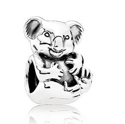 Шарм «Коала» из серебра 925 пробы