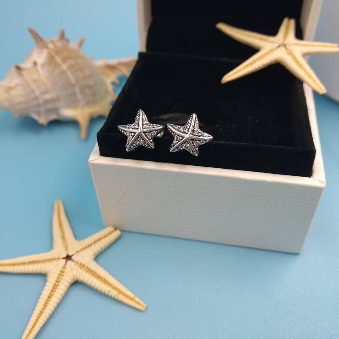 Серьги-пусеты «Морская звезда»