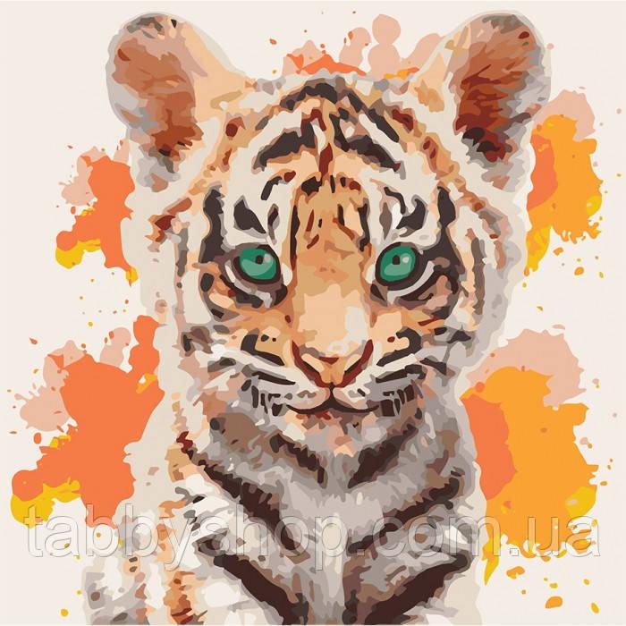 Картина по номерам Идейка - Тигрюля