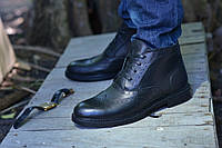 Ботинки черные натуральная кожа броги, фото 1