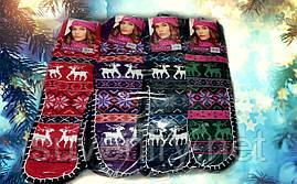 Теплые женские носочки с подошвой