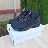 Чоловічі зимові кросівки в стилі Merrell чорні з помаранчевим, фото 4