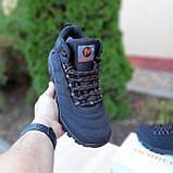 Чоловічі зимові кросівки в стилі Merrell чорні з помаранчевим, фото 6