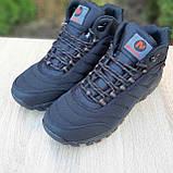 Чоловічі зимові кросівки в стилі Merrell чорні з помаранчевим, фото 8