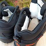 Чоловічі зимові кросівки в стилі Merrell чорні з помаранчевим, фото 9