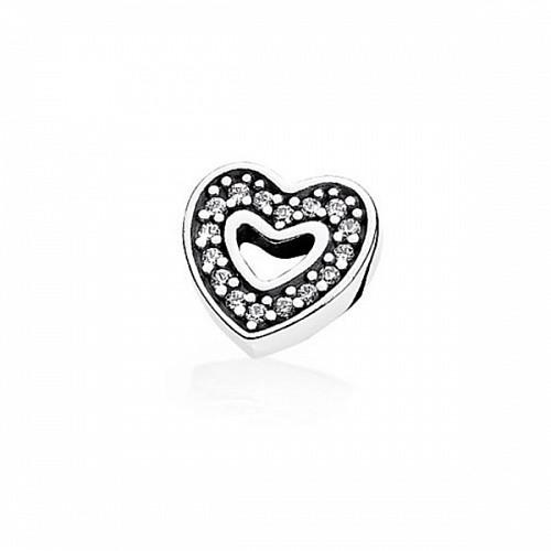 Сменный элемент (петит) «Сияющее сердце» для наполнения прозрачного медальона