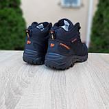 Чоловічі зимові кросівки в стилі Merrell чорні з помаранчевим, фото 10