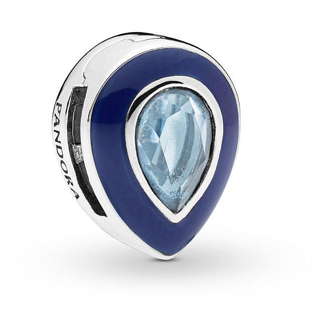 Клипса «Сверкающая голубая капля»