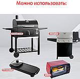 Набор антипригарных ковриков для BBQ и гриля из 3-х шт Черный (n-776), фото 7