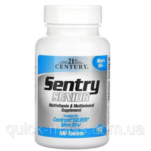 Витамины для мужчин 50+ Sentry Senior Men's 50+ Multivitamin & Multimineral Supplement 100tab