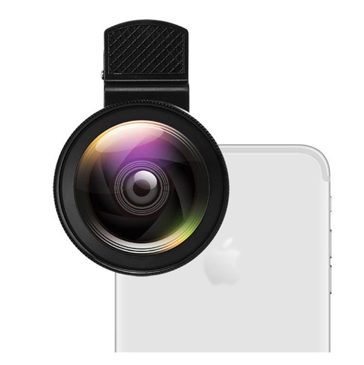 Объектив оптика макро линза для телефона на iphone смартфона черная