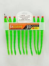 Сменная поролоновая приманка 3D EX Worm 12 WGr Fluo  №1.2.4 Levsha-NN