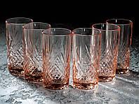 Набор стаканов Зальцбург розовый 380 мл, 6 шт Luminarc.