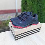 Чоловічі зимові кросівки в стилі Adidas Climaproof чорні на красній, фото 4