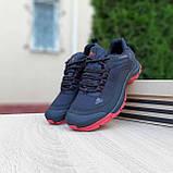 Чоловічі зимові кросівки в стилі Adidas Climaproof чорні на красній, фото 5