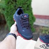 Чоловічі зимові кросівки в стилі Adidas Climaproof чорні на красній, фото 7