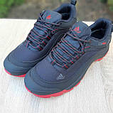 Чоловічі зимові кросівки в стилі Adidas Climaproof чорні на красній, фото 10