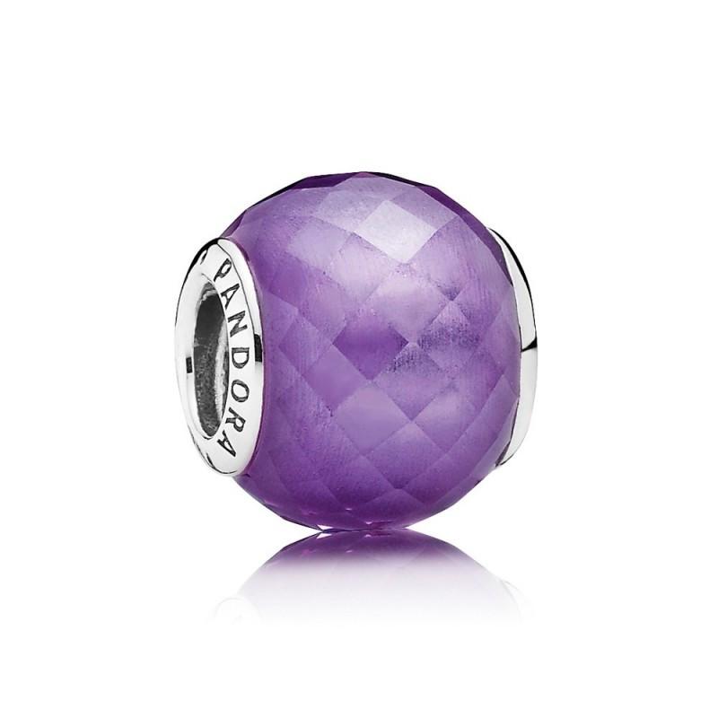 Шарм «Фиолетовая нежность» из серебра 925 пробы
