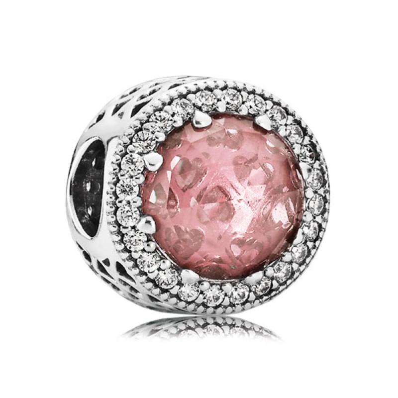 Шарм «Розовые сияющие сердца»