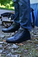 Ботинки черные кожаные, фото 1