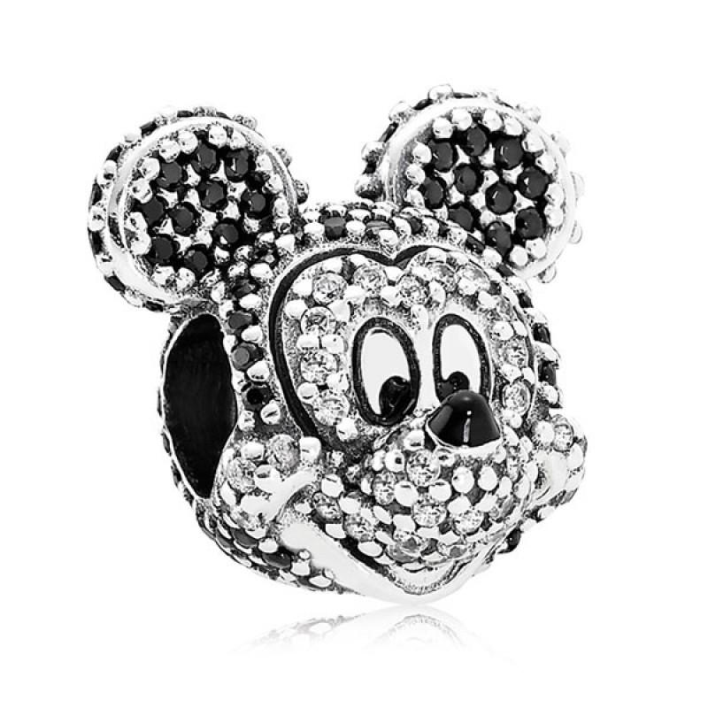 Шарм «Микки Disney» из серебра 925 пробы