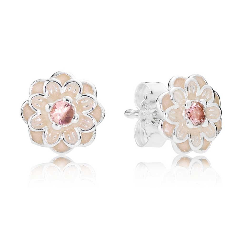 Серьги из серебра «Цветущий георгин»