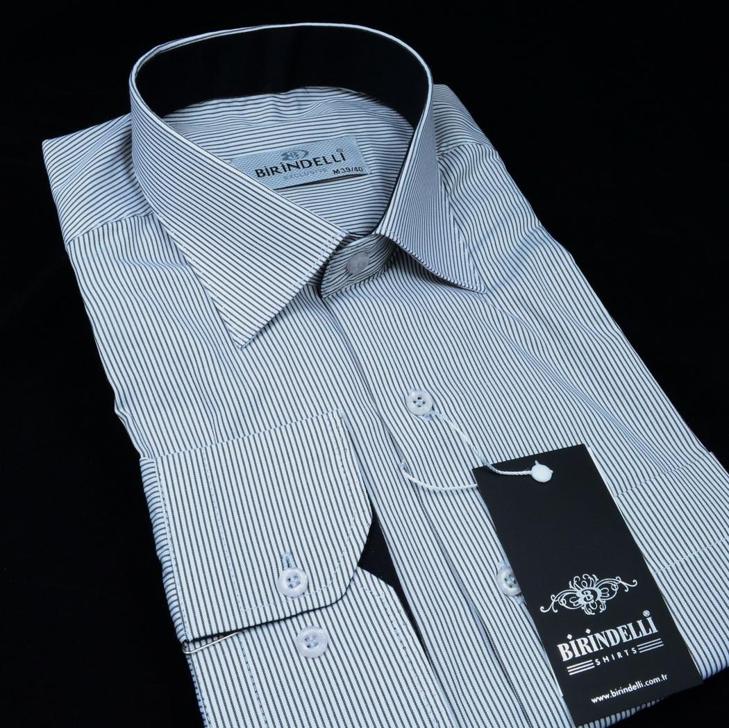 Сорочка чоловіча, прямого крою з довгим рукавом Birindelli 03-254 80% бавовна 20% поліестер L(Р)