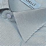 Сорочка чоловіча, прямого крою з довгим рукавом Birindelli 03-254 80% бавовна 20% поліестер L(Р), фото 2