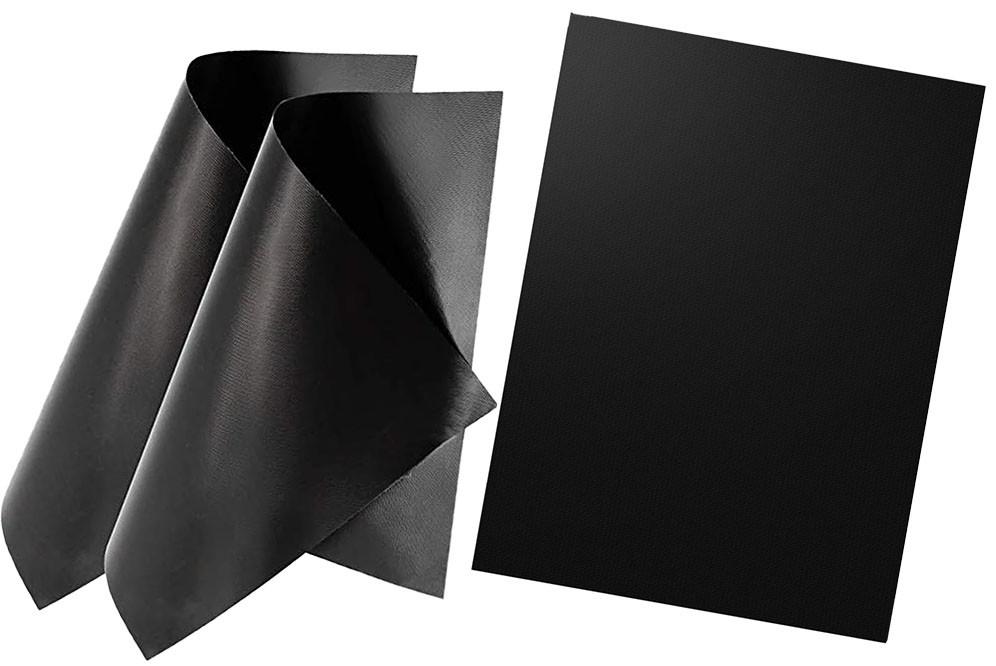 Набор антипригарных ковриков для BBQ и гриля из 3-х шт Черный (n-776)
