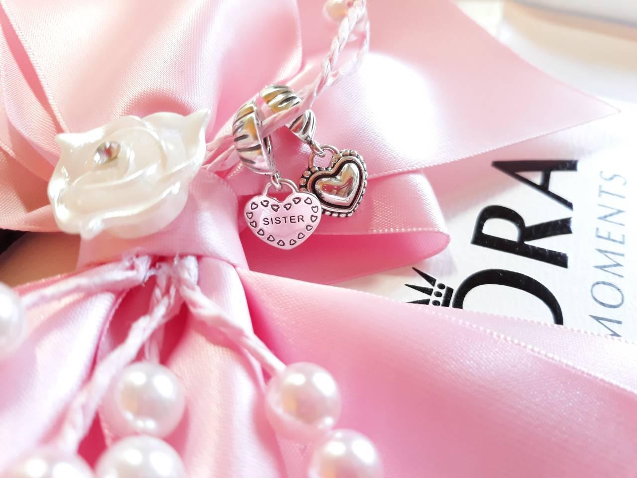 Серебряный шарм-подвеска «Моя сестра»