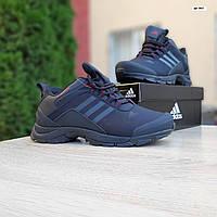 Мужские зимние кроссовки в стиле Adidas Climaproof черные с красным, фото 1