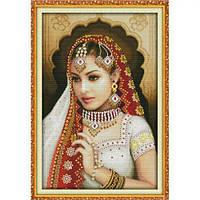 """Вышивка крестиком по номерам """"Индийская красавица 2"""", Идейка, вязаные,набор для плетения,детские наборы"""