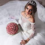 Ella - Тіара з бісером, що ідеально пасує оздобленим бісером сукням (5,7 cm), фото 2