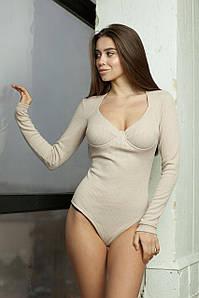Боди женское, цвет: бежевый, размер: 42, 44, 46, 48