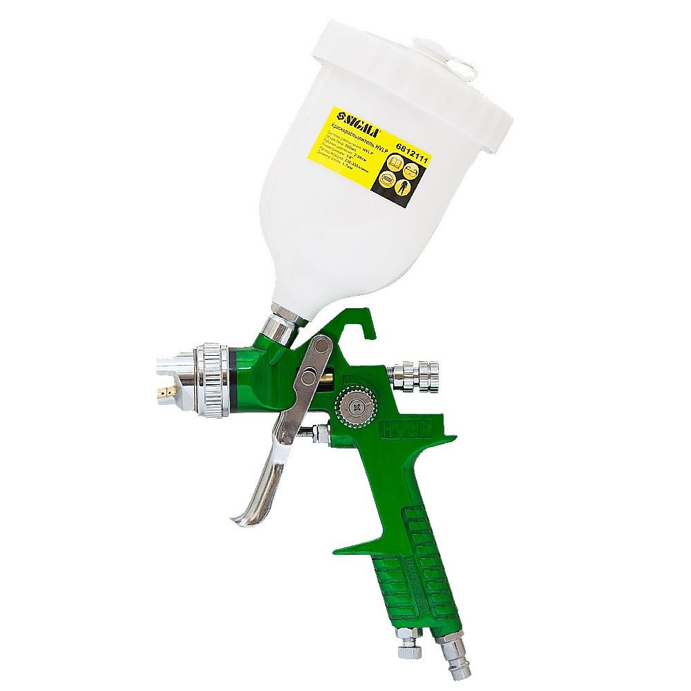 Краскораспылитель HVLP Ø1.7 с в/б (зеленый) Sigma (6812111)