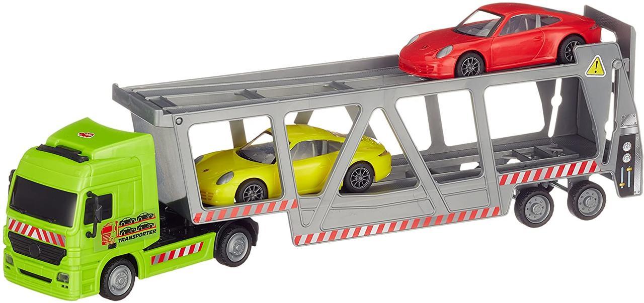 Автотранспортер с 2 машинками, 38 см,  Dickie Toys 3747005