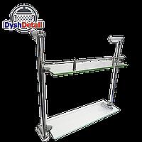 Полка на 4-е отверстия 350Х350 мм ( Одно стекло и держатель полотенца ) ПС611
