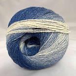 Пряжа шерстяная Vivchari Premium Symphony, Color No.12 сине-голубо-белый меланж, фото 3