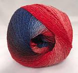 Пряжа шерстяная Vivchari Premium Symphony, Color No.13 красно-сине-белый меланж, фото 2