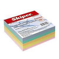 Бумага для заметок Skiper класика 85*85*400 л цветн не клейн SK-4311/ SK-4321 (6/30) 140357