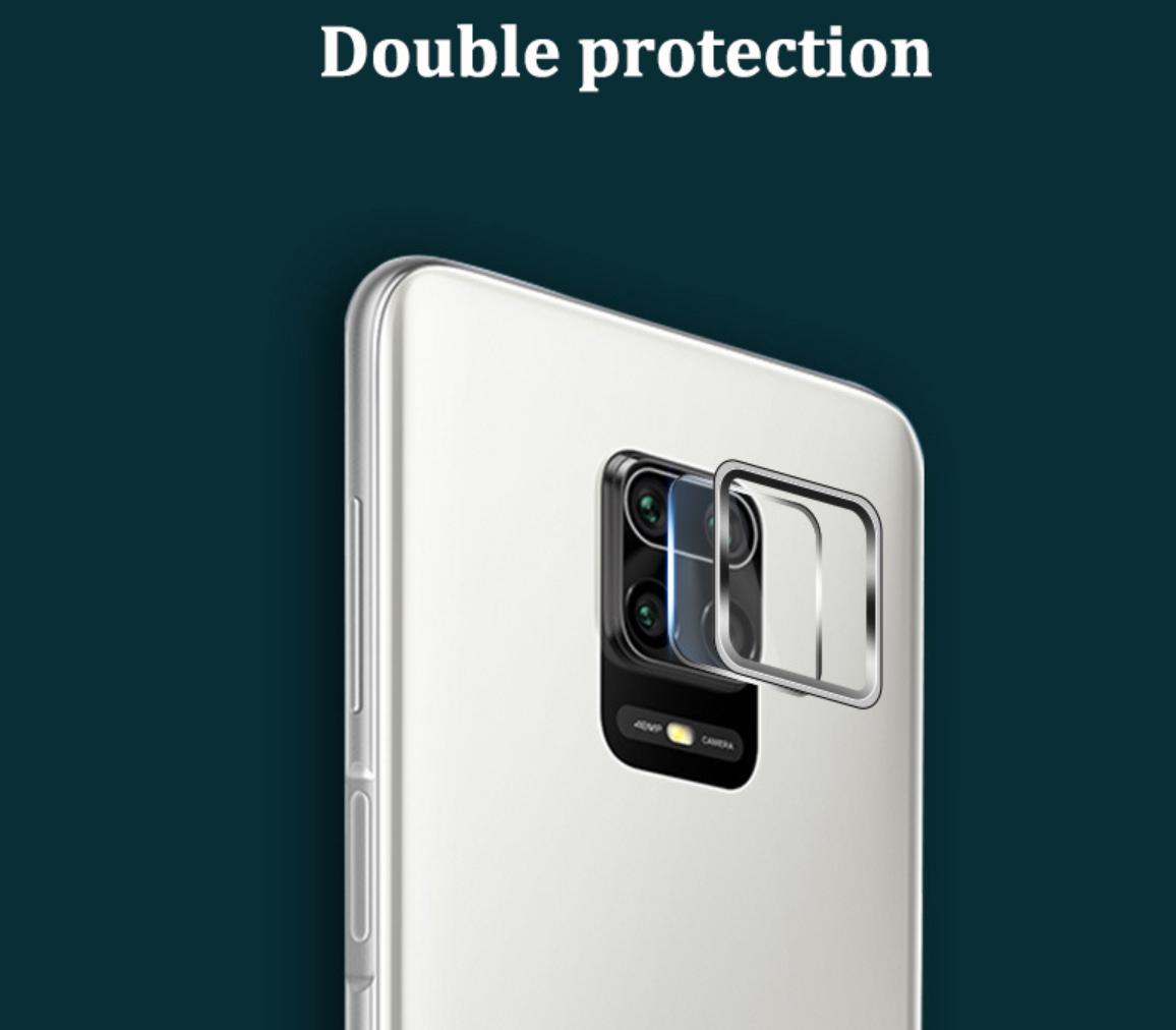 Коплект защиты камеры рамка + стекло для Xiaomi Redmi Note 9S