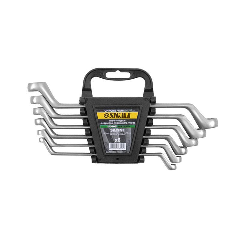 Ключи накидные 6шт 6-17мм CrV satine Sigma (6010041)