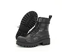 "Ботинки женские кожаные Bаlenсіagа Strike ""Черные""  р. 36-40, фото 1"