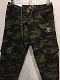 Утепленные коттоновые брюки для мальчика 134-164 см, фото 2