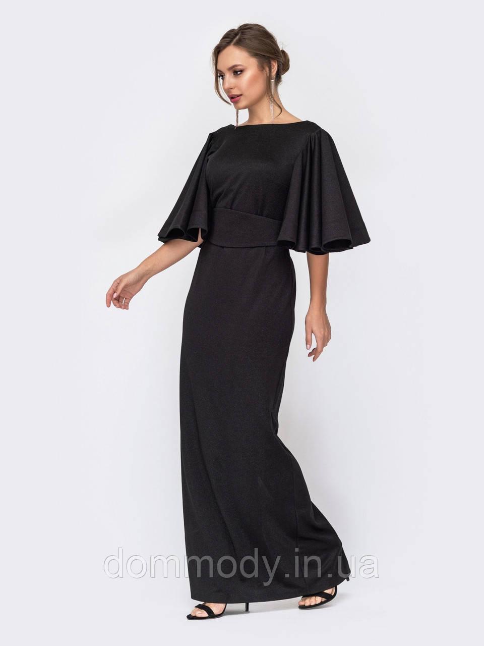 Платье женское из блестящего трикотажа Cleo black
