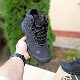 Чоловічі зимові кросівки в стилі Adidas Climaproof чорні, фото 2