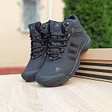 Чоловічі зимові кросівки в стилі Adidas Climaproof чорні, фото 3